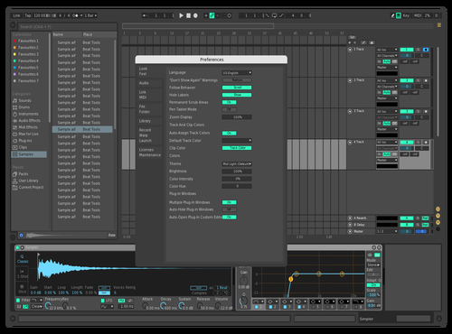 Creamy blue Theme for Ableton 10 by Prophet