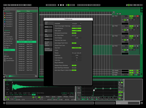 Green Hazard Theme for Ableton 10 by Patrik Haas