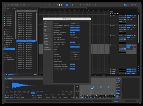 Black & Blue Theme for Ableton 10 by Ethan Roman