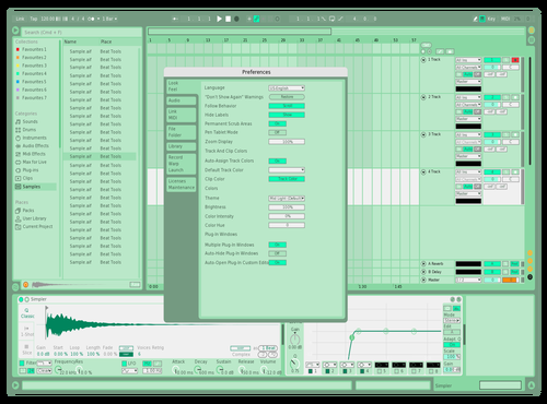 Raw & Modern - Mint Candy Theme for Ableton 10 by rawandmodern