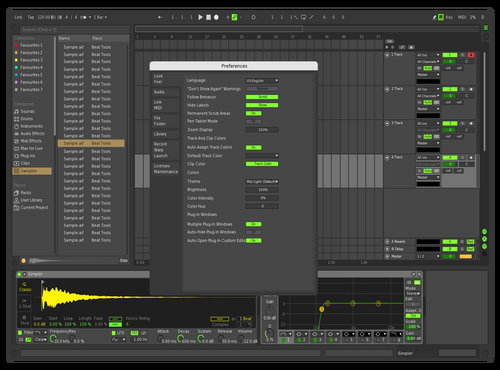 Darck Green (Freeze+Automation+Solo+Select) Theme for Ableton 10 by Грицько