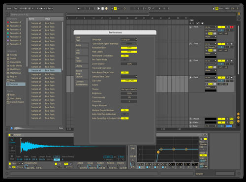 Blellow Theme for Ableton 10 by Brennan Megeath
