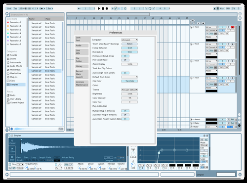 Blue n White Theme for Ableton 10 by arvoplex