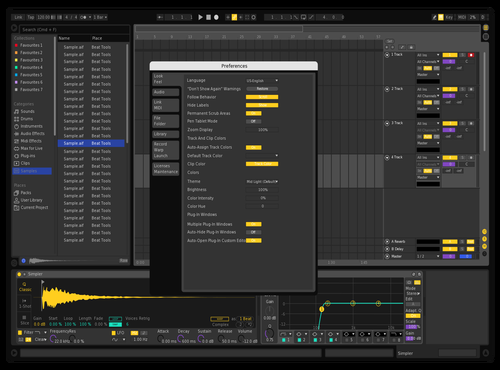 FABRIC Theme for Ableton 10 by Dylan Martin