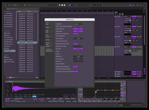 My purp Theme for Ableton 10 by theme