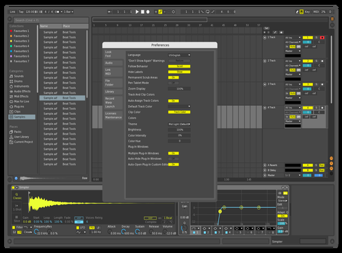 DK Blue & Neon Theme for Ableton 10 by DaveNexxt