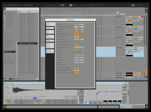 Dabbler Gray 1 Theme for Ableton 10 by John Teti