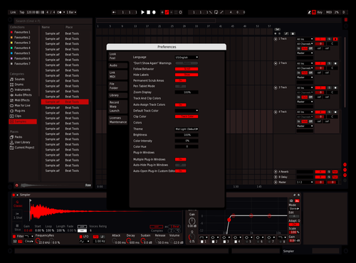 Red Contrast Theme for Ableton 10 by notluc