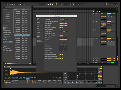 Black Contrast Theme for Ableton 10