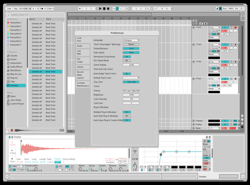 SnowCoral Theme for Ableton 10 by Xeque2786