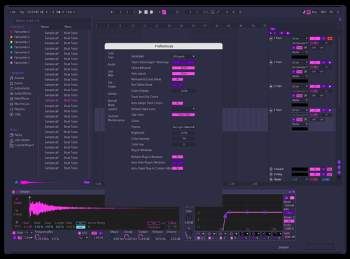 TestONE (Flat Purple + Pink) Theme for Ableton 10 by stmf
