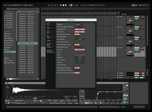 Oversampled Theme for Ableton 10 by Christian