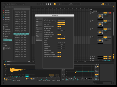 Dark Theme Default Theme for Ableton 10 by felix