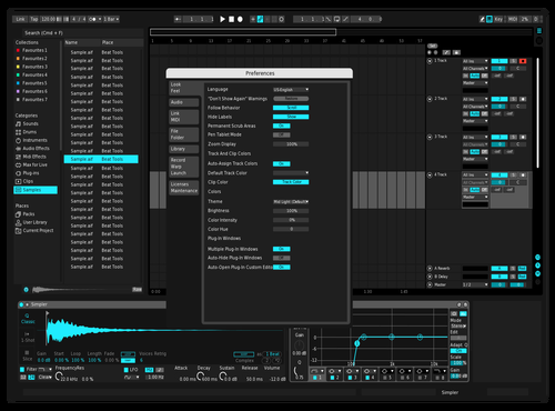 Black Masterstream Theme for Ableton 10 by astracollective
