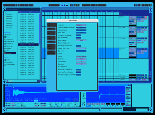 Aquastufferz Theme for Ableton 10 by ed