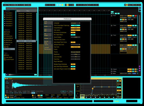 Tron Theme for Ableton 10 by Kalu