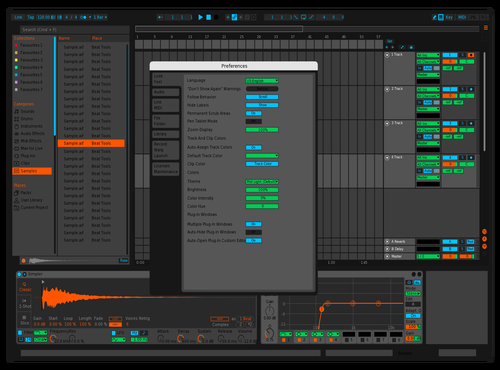 BLACK OUT Theme for Ableton 10 by Logan Strouse