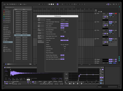 Purple Haze Theme for Ableton 10 by TheXevo