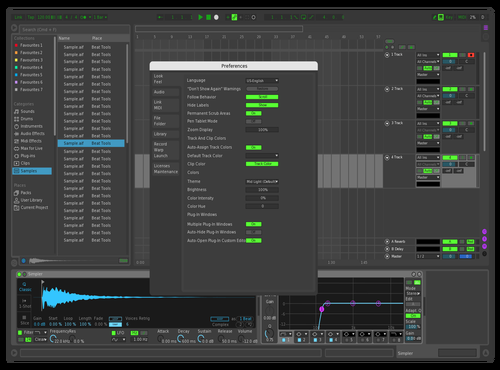 Dark Frog Theme for Ableton 10 by Luigi Bridges