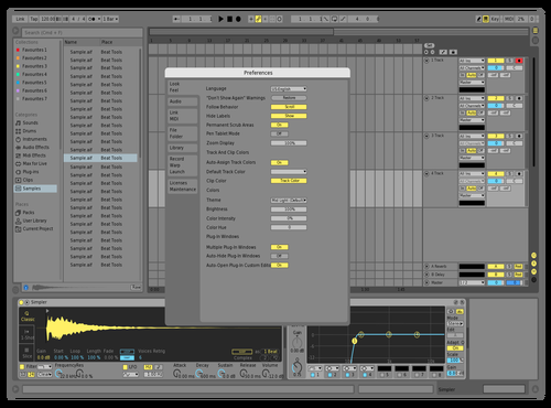 Yellow Theme for Ableton 10 by gab dar