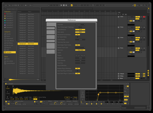 Yello Fixed Theme for Ableton 10 by Marzor