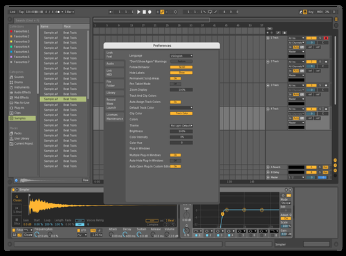 Mid Dark 2.0 Theme for Ableton 10 by Halsyon