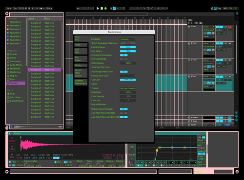 Neon Theme for Ableton 10 by Joachim E. S. Sørensen