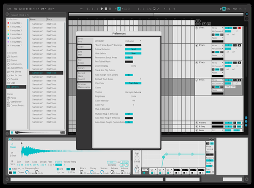 Razor Theme V2 Theme for Ableton 10 by Derpcat