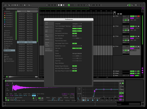 Dark, pink & green Theme for Ableton 10 by sheaws