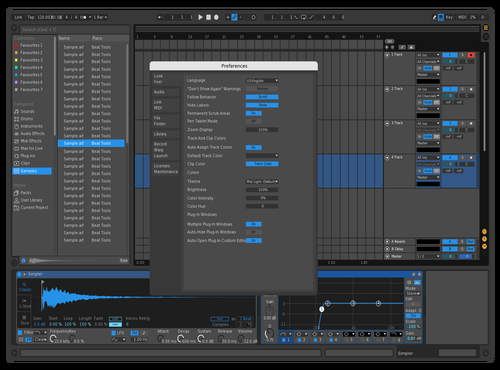 Just blue Theme for Ableton 10 by blusish