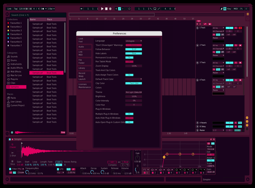Red (purple) Tape Theme for Ableton 10 by IKDESIGN