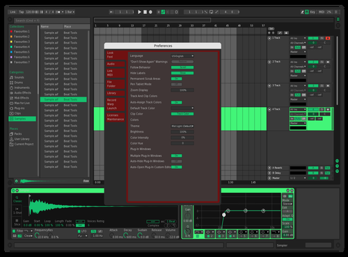 Red and green Theme for Ableton 10 by artexlom music