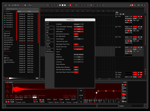 Dark Red MK2 Theme for Ableton 10 by KeanuChungusWholesome100