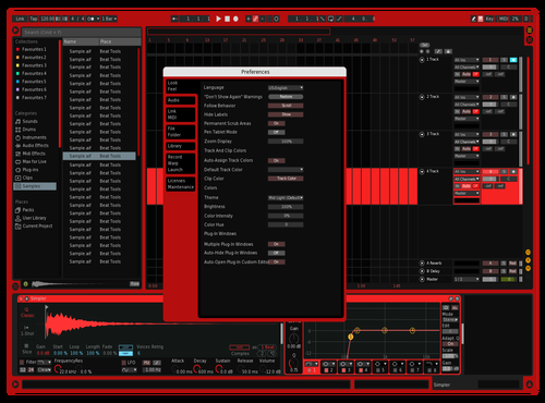 Dark Red Theme for Ableton 10 by ricky ebner