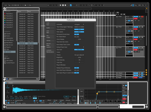 Black and white temp Theme for Ableton 10 by Jordan Morgado