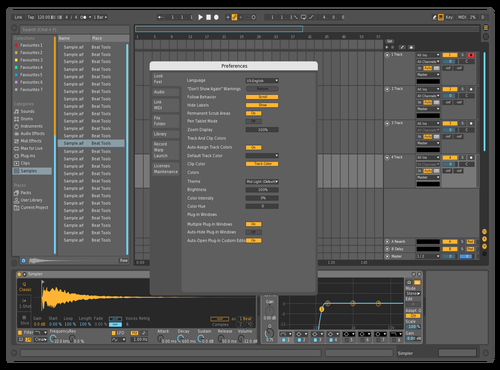 Blue touch Theme for Ableton 10 by Michael Dicker