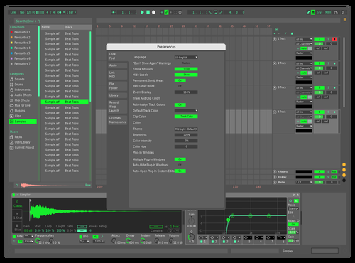 Tovking Original Theme for Ableton 10 by Tovking