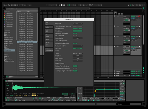 Contrast Dark Theme for Ableton 10 by ori