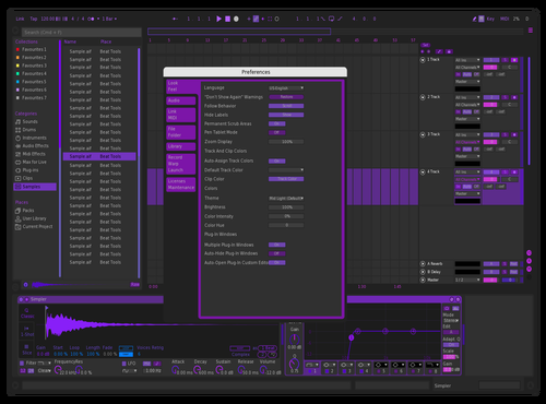 WaiTPurPeL Theme for Ableton 10 by WaiT