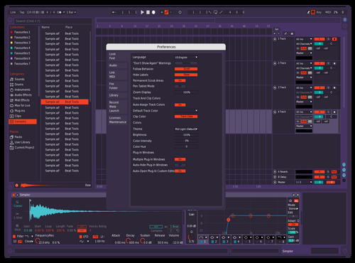 Orange purple Theme for Ableton 10 by Eduardo m Alameda