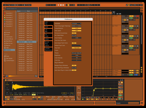 SUNCHILD DARK 2 Theme for Ableton 10 by BMAN