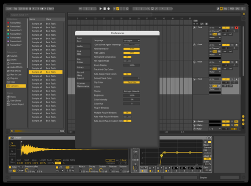 Darkyello Theme for Ableton 10 by justin