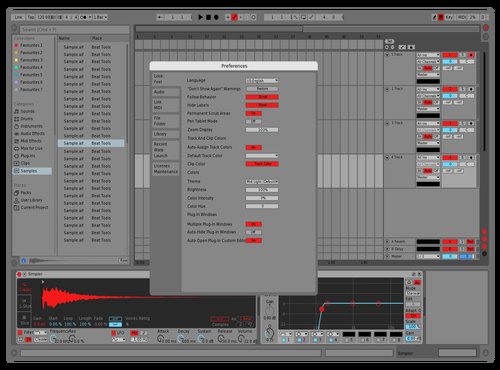 Redd Theme for Ableton 10 by Jake