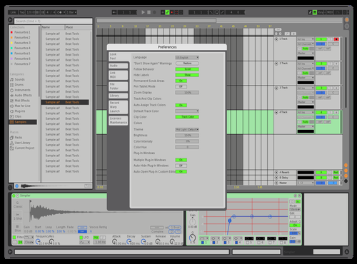 CONTRAST GRID Theme for Ableton 10 by Marc