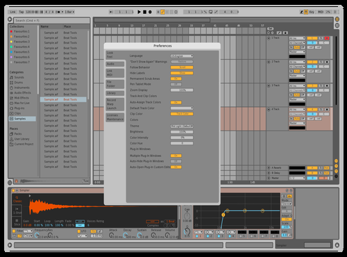 Mid Light Orange Theme for Ableton 10 by mrgeniusidiot