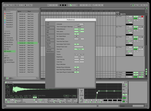MidLightGreen Theme for Ableton 10 by Alex