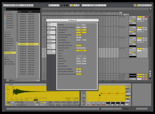 Beat Machine Theme for Ableton 10 by Davey
