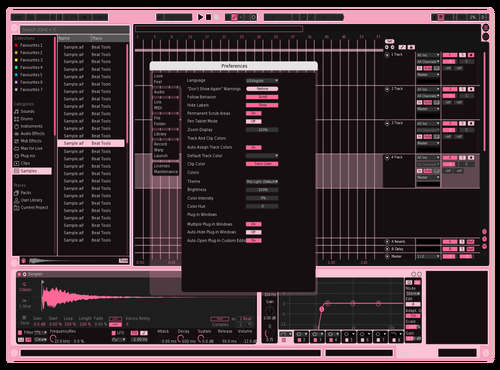 PINK! Theme for Ableton 10 by Felix