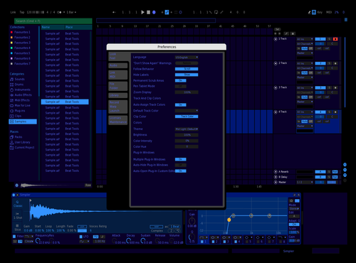 DarkDeepBlue Theme for Ableton 10 by tegro