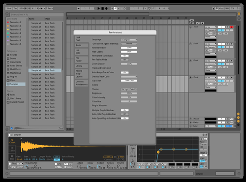 Stock v1 test Theme for Ableton 10 by Staysick